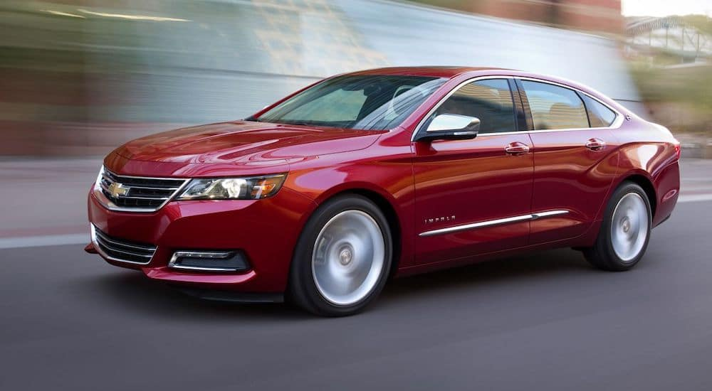 Red 2014 Chevy Impala