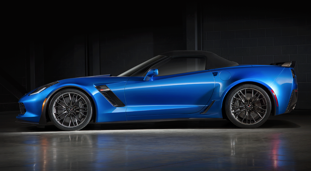 Blue 2015 Chevy Corvette Showcase