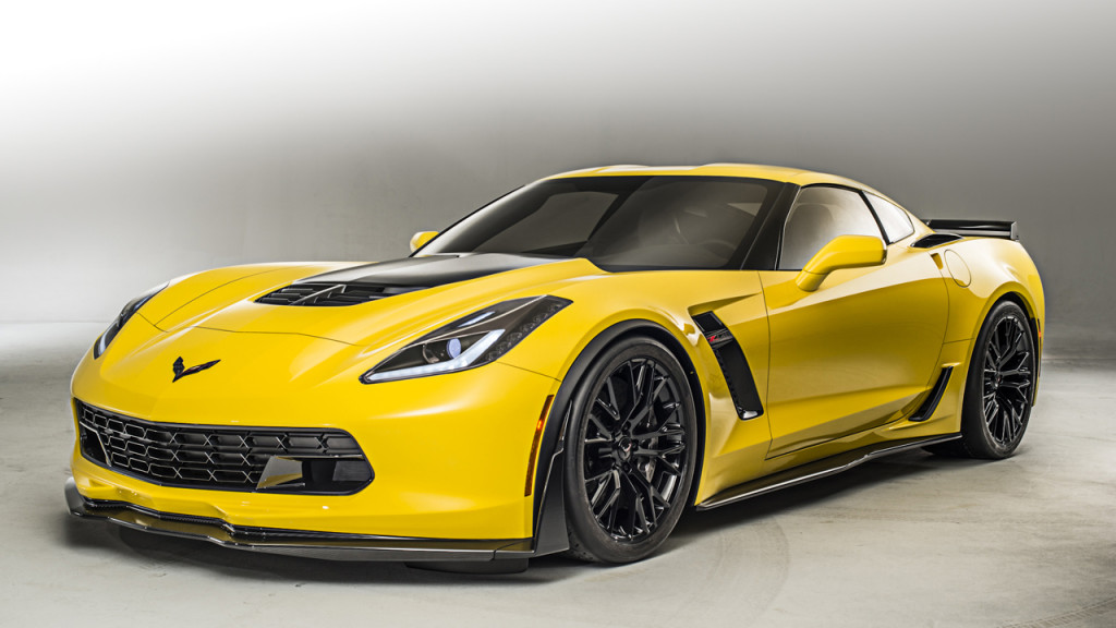 A yellow Corvette Z06 needing a Cheap Oil Change