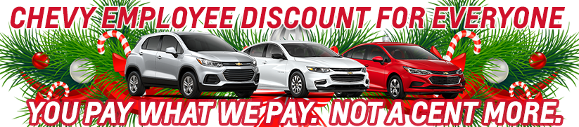 Chevy Employee Pricing Discount For Everyone McCluskey Chevrolet