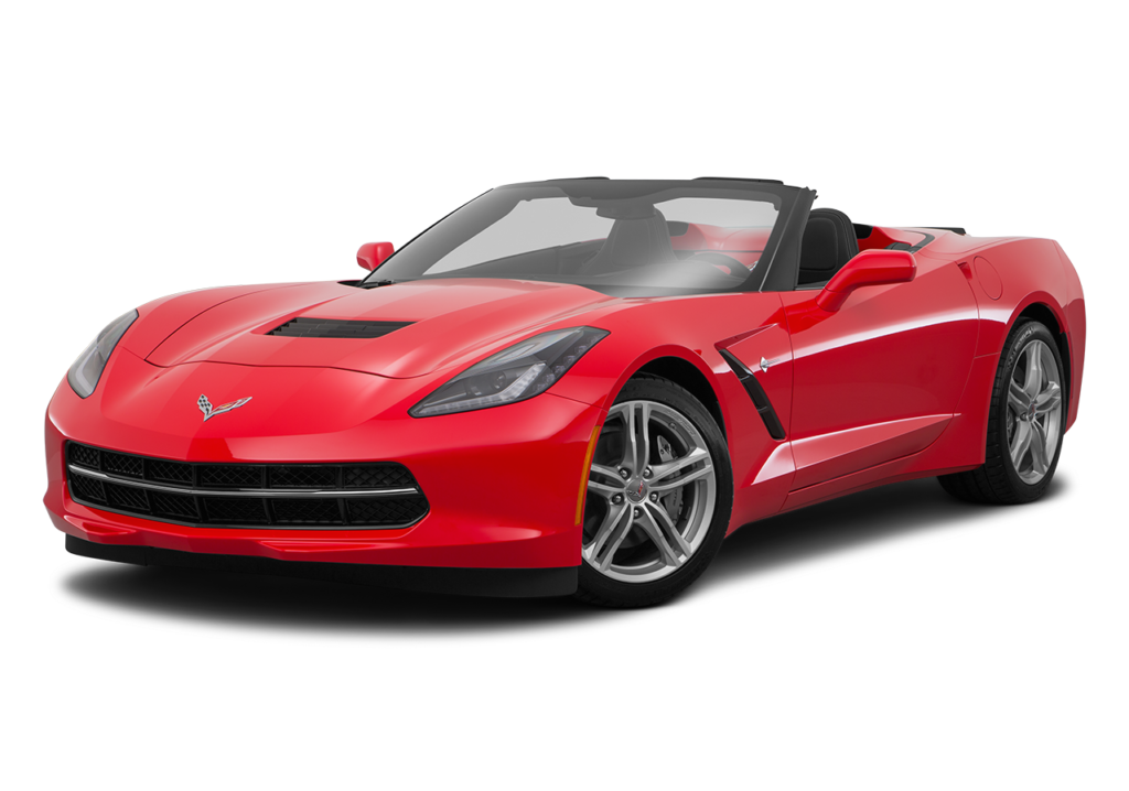 A red 2016 Chevy Corvette parked facing left.