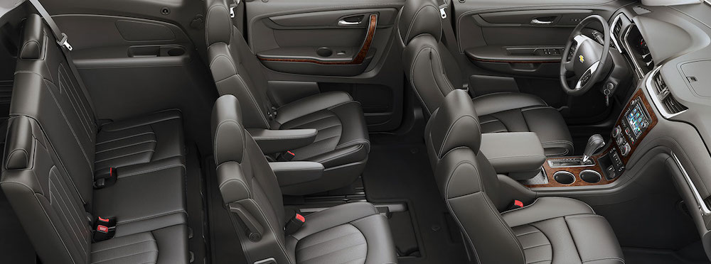 The passenger and cargo space is shown in a 2016 Chevy Equinox.