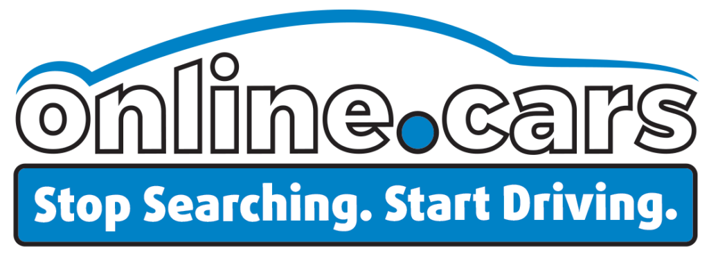 The Online.cars logo. Stop Searching, Start Driving