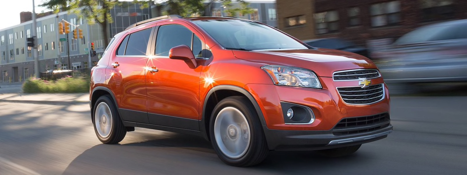 2016 Chevy Trax driving fast on the road