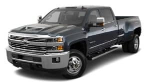 A 2018 Chevy Silverado 3500HD is parked and facing left.