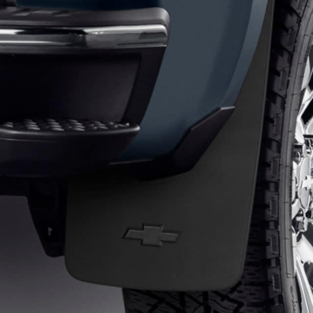 Chevrolet Silverado Mud Flaps With Bowtie In Black