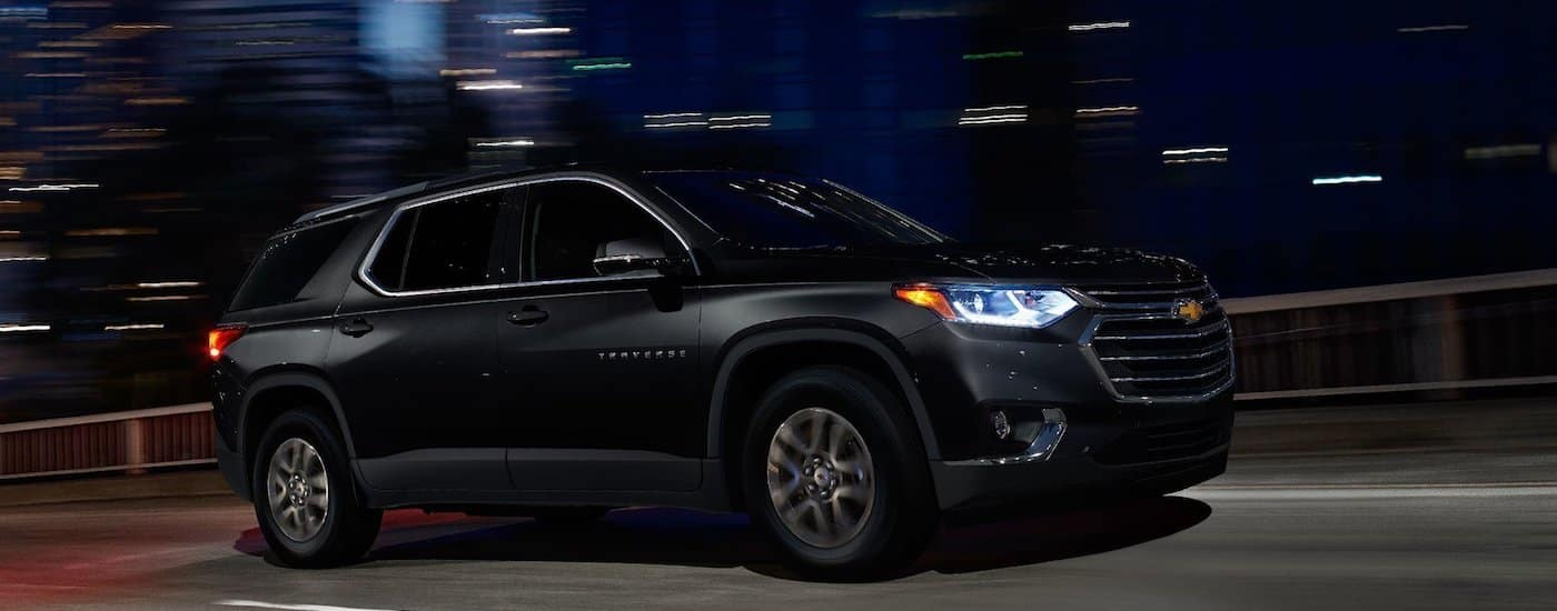 Black 2019 Chevrolet Traverse Efficiency Driving