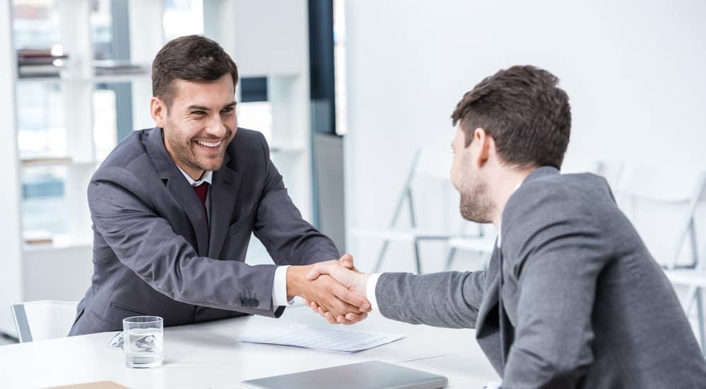 Trade-in Agreement Handshake