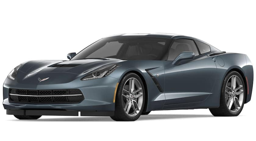 Gray 2019 Chevy Corvette Stingray on white