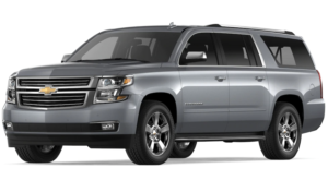 Gray 2019 Chevy Suburban on white