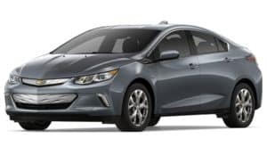 A gray 2019 Chevy Volt on white