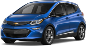 A blue 2019 Chevy Bolt from McCluskey Chevy