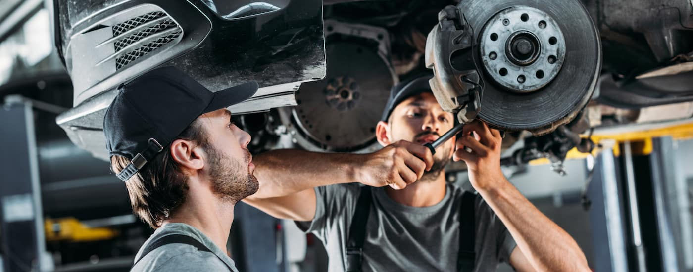 The service department at McCluskey Chevy