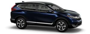 A blue 2019 Honda CR-V on white