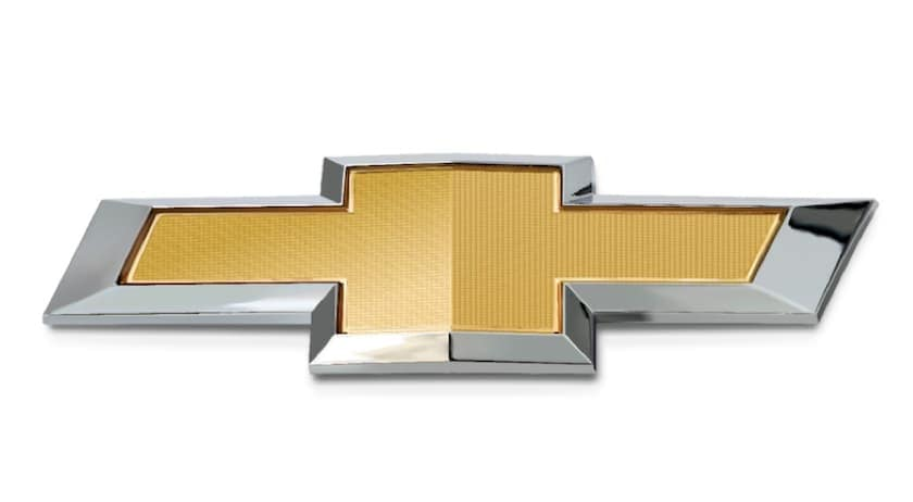 The gold Chevy bowtie is shown.