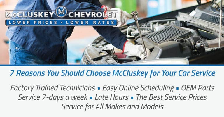 McCluskey Chevrolet service department