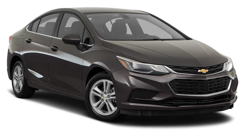 A 2017 Chevy Cruze is parked, facing left.