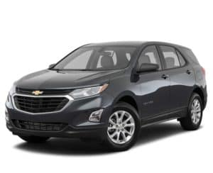 A black 2018 Chevy Equinox is parked facing left.