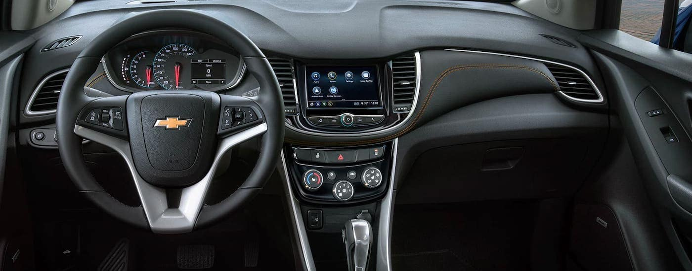 The dashboard is shown of a 2020 Chevy Trax in Cincinnati, OH.