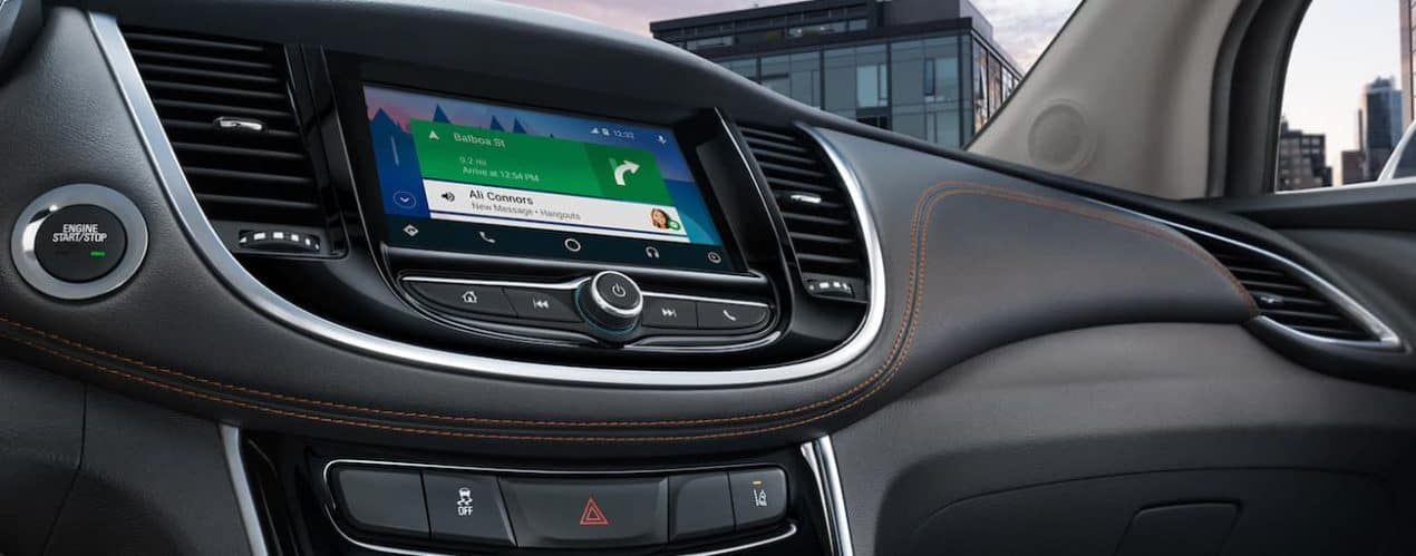 The infotainment screen on a 2020 Chevy Trax is shown.