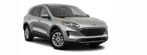 A silver 2021 Ford Escape is angled right.