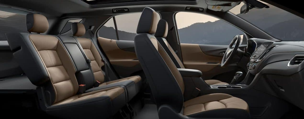 The interior of a 2022 Chevy Equinox shows two rows of seating.