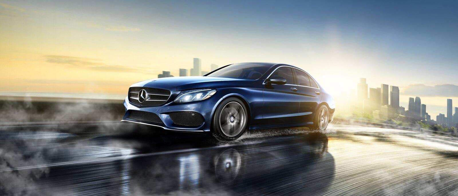 2017 Mercedes-Benz C-Class Sedan Blue Exterior Model