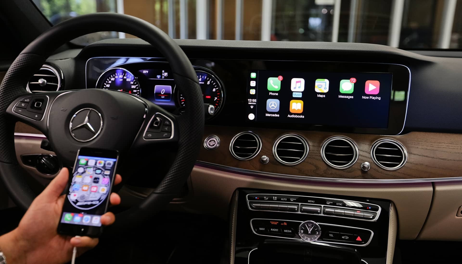 Apple carplay and android auto benefits and uses for for Mercedes benz apple carplay