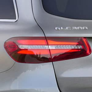 glc 300 tail light and rear badge