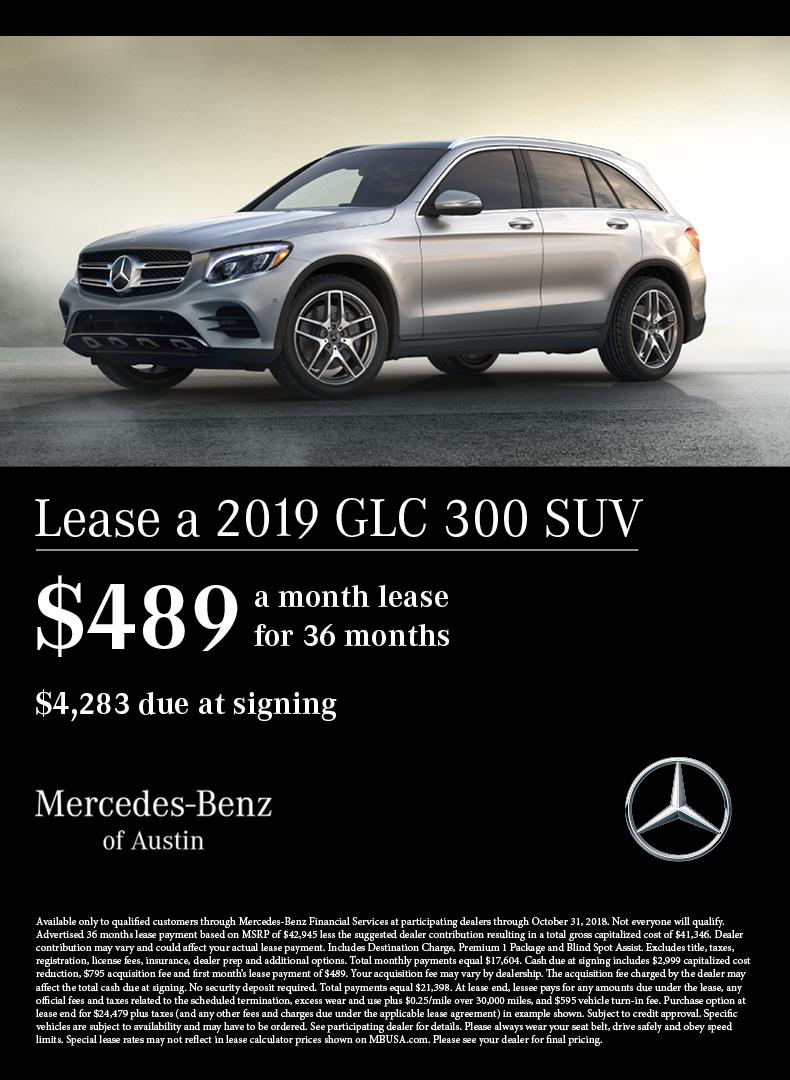 Mercedes Benz Lease >> Glc Lease Offer Mercedes Benz Of Austin