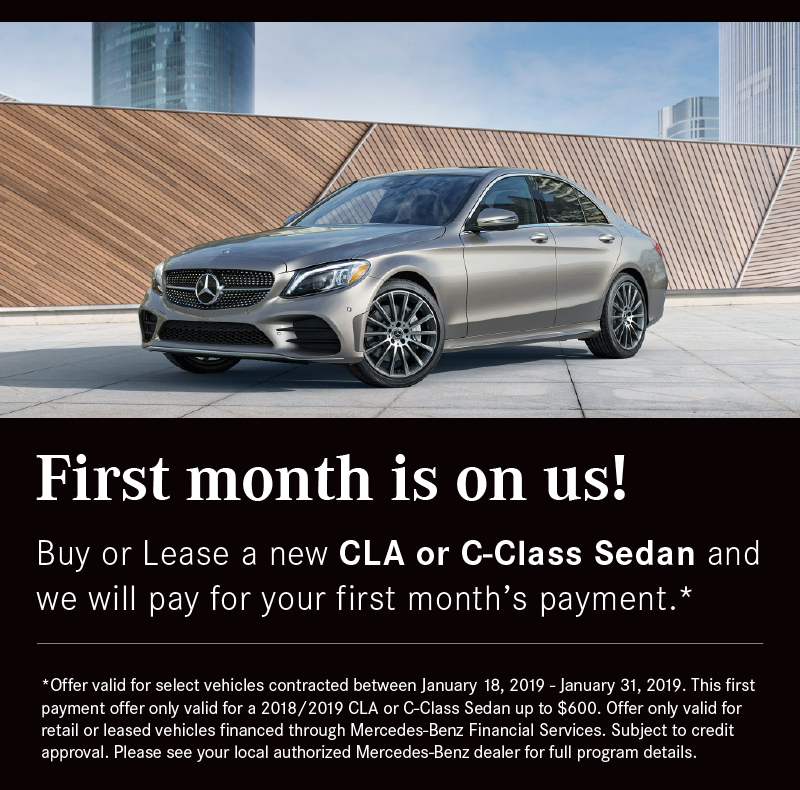 First Month Mercedes-Benz Payment is On Us