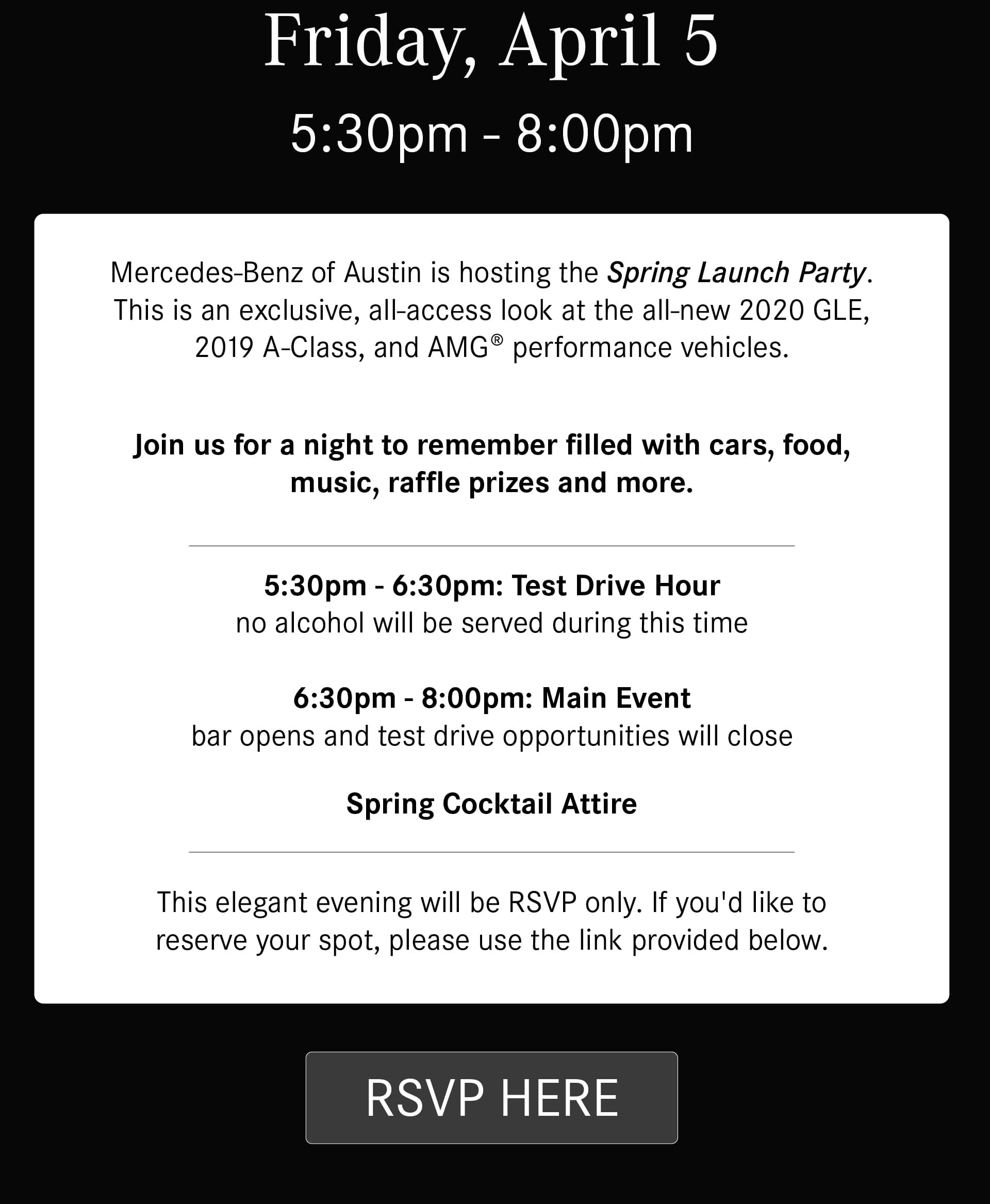 Mercedes-Benz of Austin Spring Launch Party