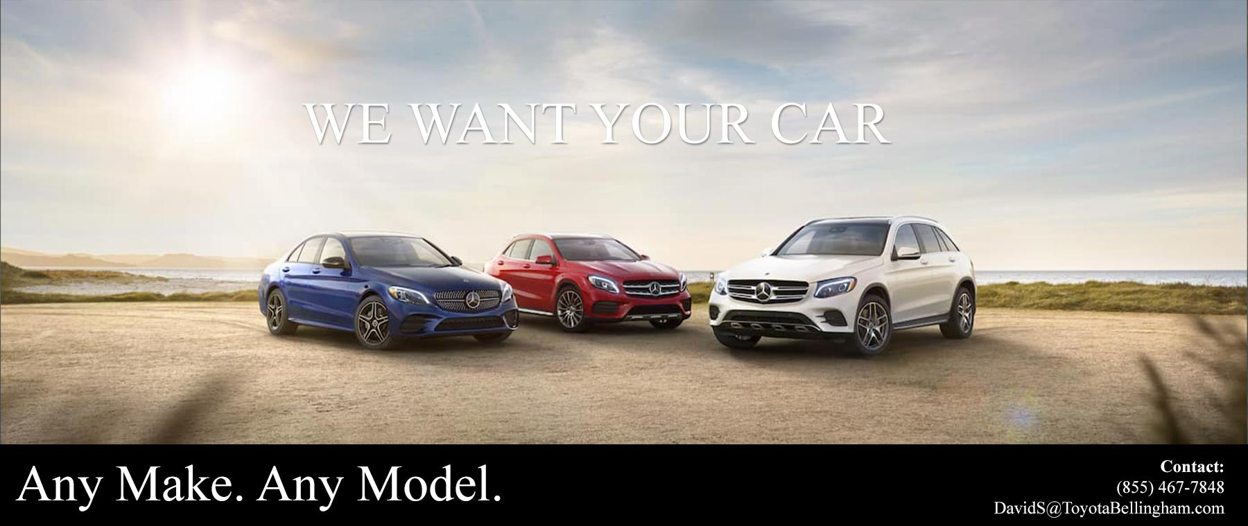 We want your car Benz Desktop