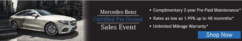 Certified pre owned vehicles la quinta mercedes benz for Mercedes benz certified pre owned sales event