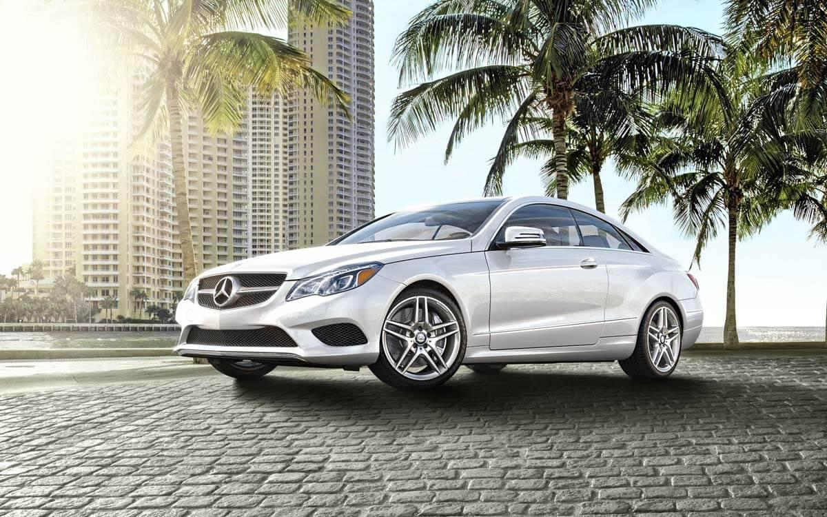 2017 E-Class in a tropical setting