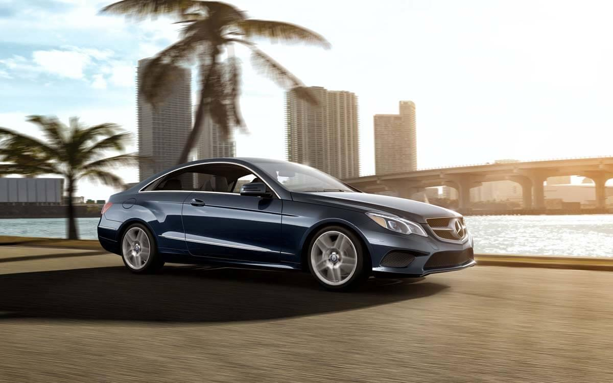 2017 E-Class by palm tree