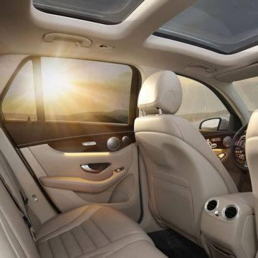 2017 GLC interior view of the sunset