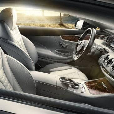 2017 S-Class interior view of the sunset