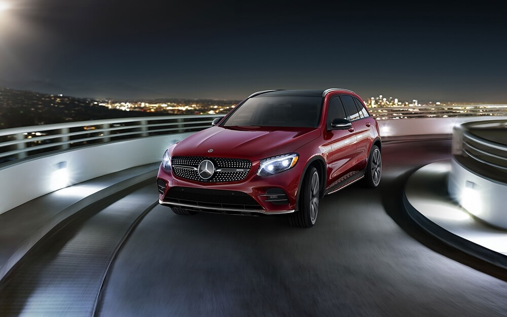 2018 Mercedes-Benz GLC 300 exterior in red