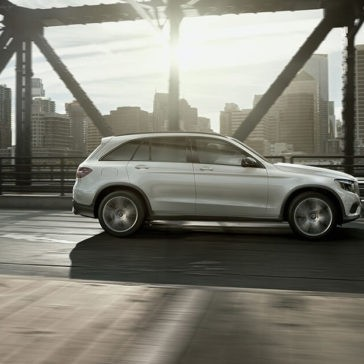 2018 Mercedes-Benz GLC 300 on the bridge