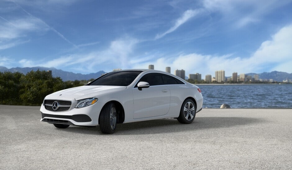 2018 Mercedes-Benz E-Class on the beach