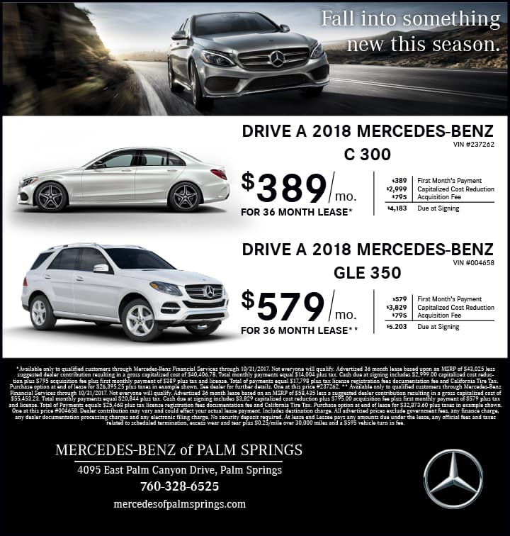 Mercedes-Benz of Palm Springs Sales Events