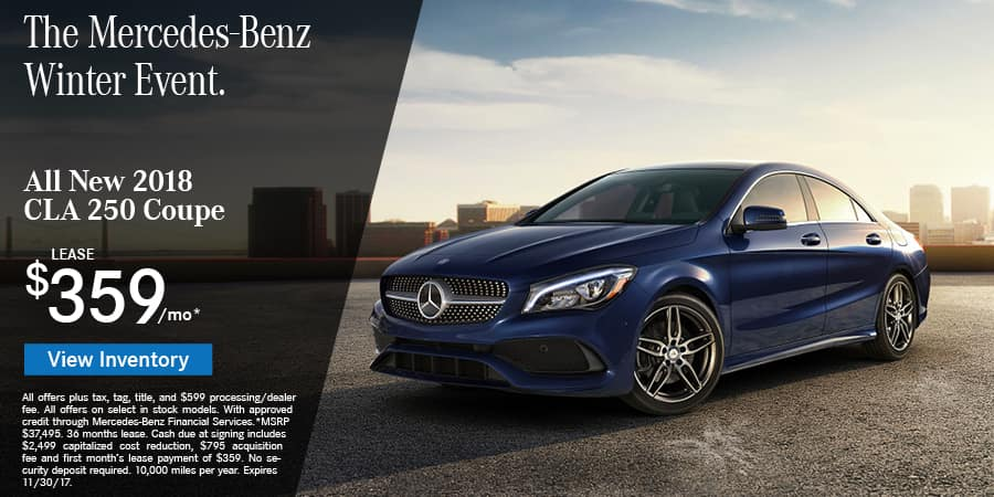 Meet the cla at mercedes benz of roanoke for Mercedes benz special deals