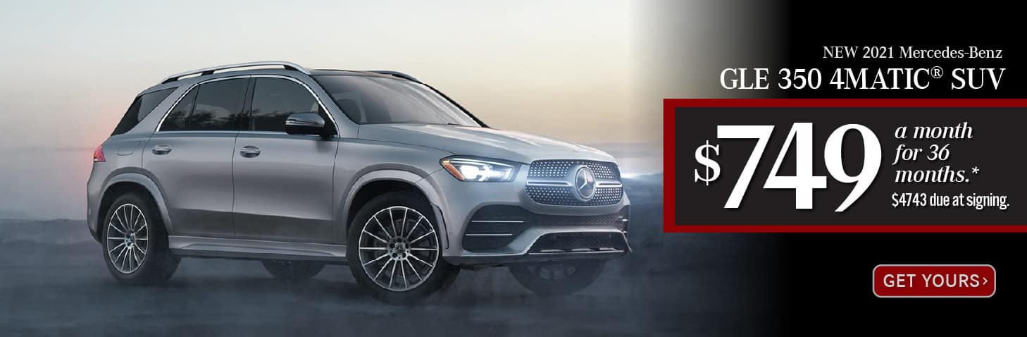 New 2021 Mercedes-Benz GLE 350- Lease for only $749 a month for 36 months after $4743 due at signing. - Get Yours