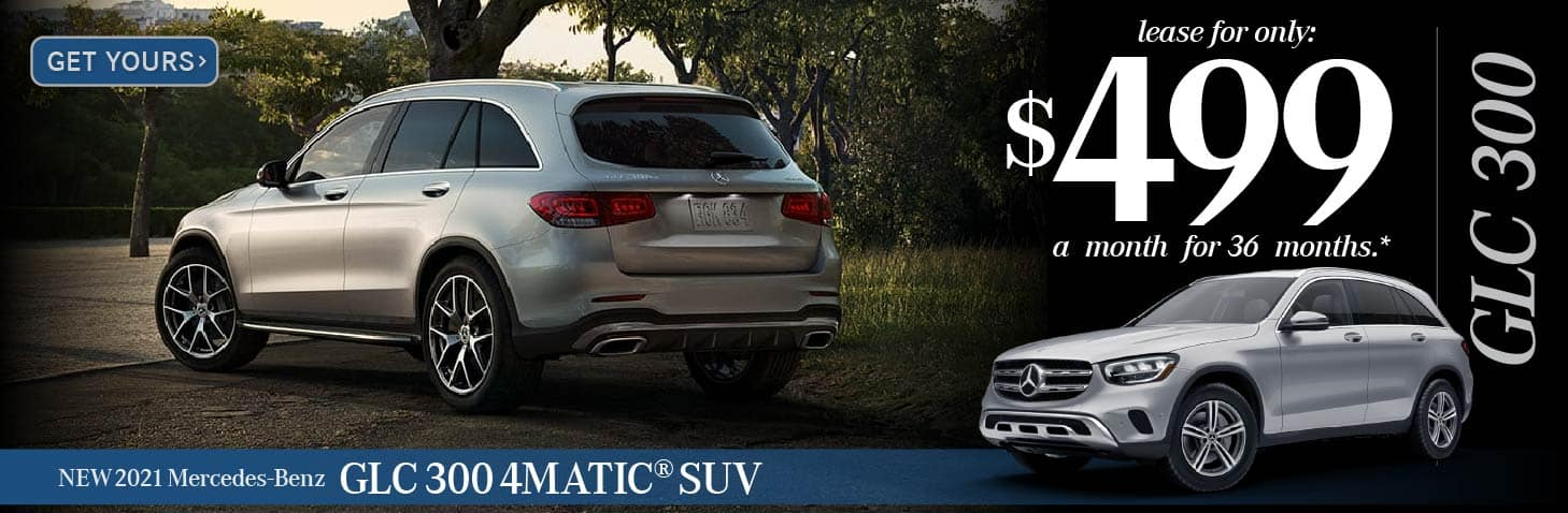 New 2021 GLC 300 4Matic Suv $499 for 36 Months — GET YOURS