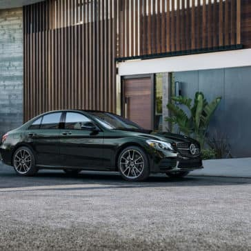 2019-Mercedes-Benz-C-Class-Sedan-in-front-of-home