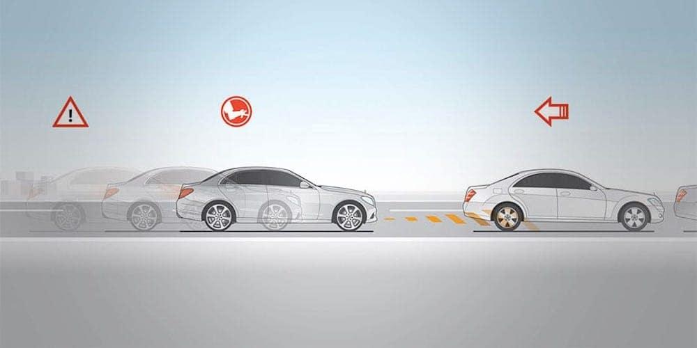 Mercedes-Benz Active Brake Assist Display