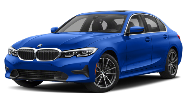 Blue 2019 BMW 3 Series Sedan