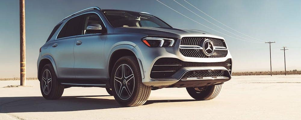 Silver 2019 Mercedes-Benz GLE Parked