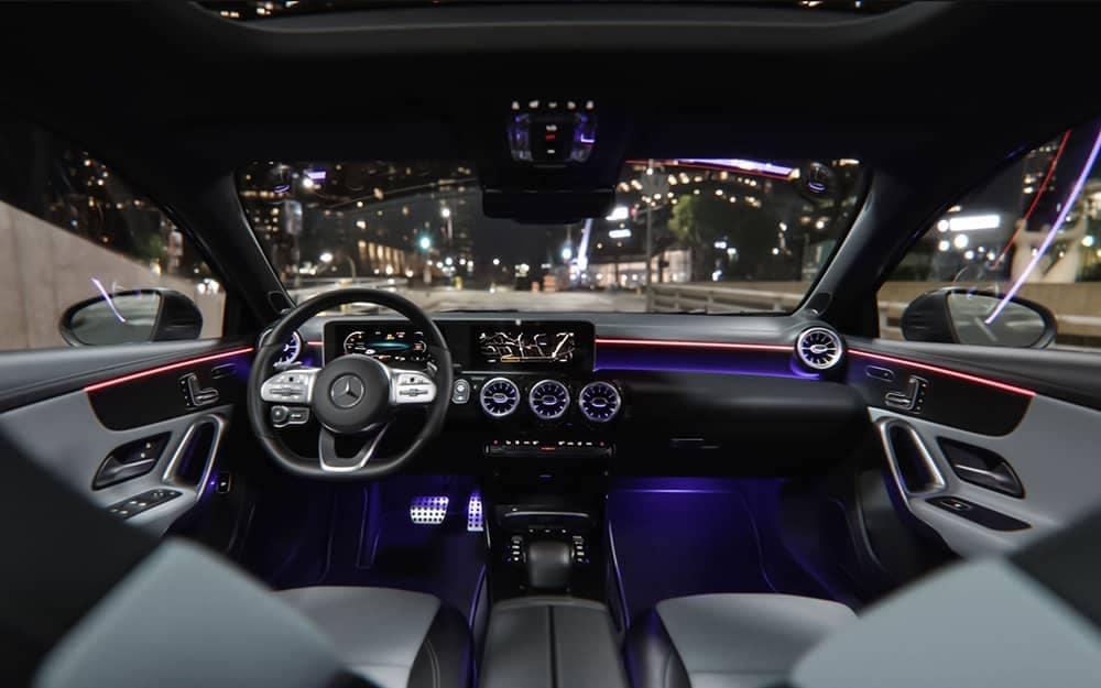 2019 MB A-Class Interior at Night